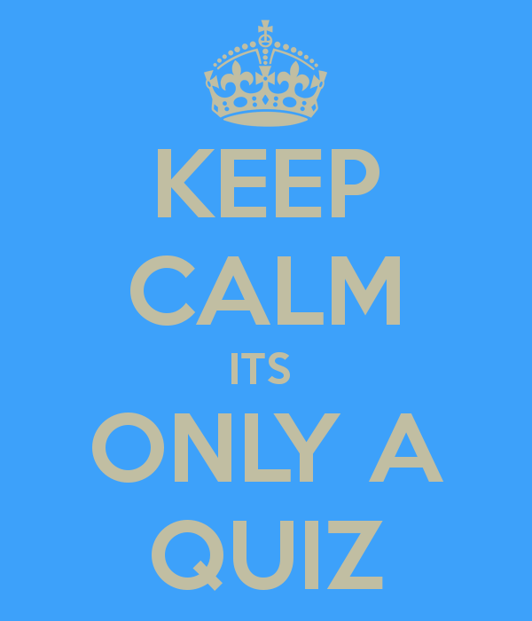 Keep Calm It's Only A Quiz