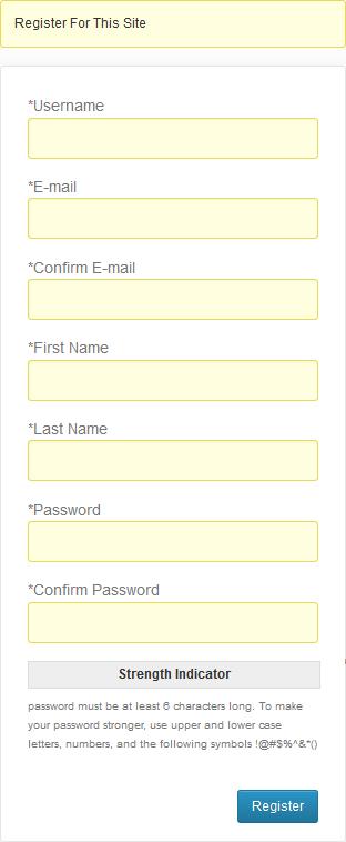 Register Dialog