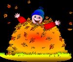Children in Leaves