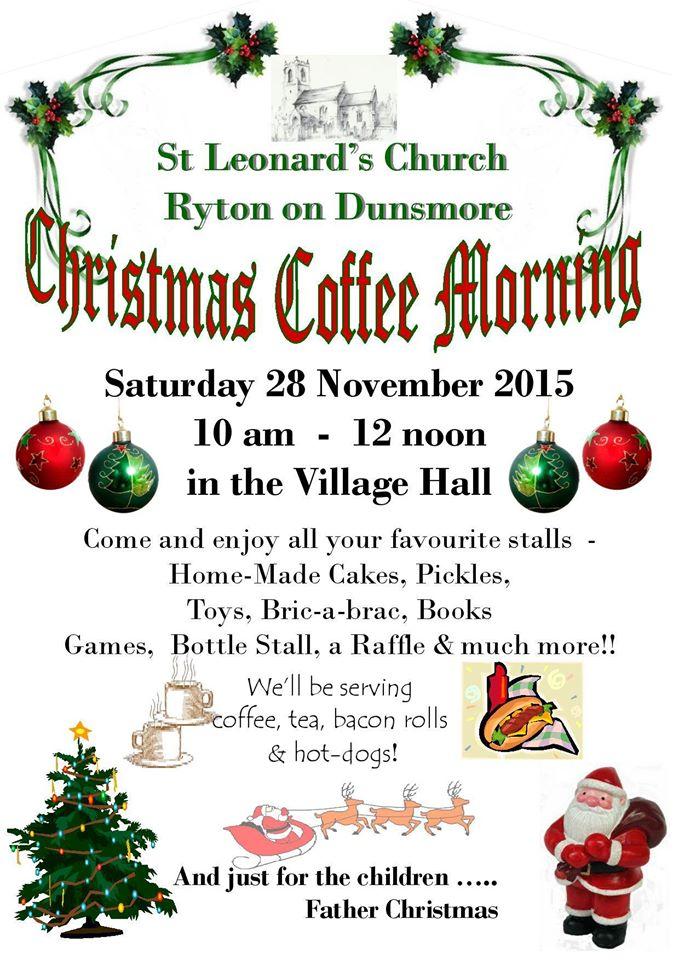 Christmas Coffee Morning 2015 Poster
